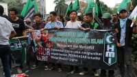 Çin'in, Sincan Uygur Özerk Bölgesi'nde Müslümanlara Yönelik Uygulamalar Endonezyada Protesto Edldi
