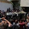 Filistin Halkı Saldırıda Şehit Olan İki Mücahidi Son Yolculuğa Uğurladı