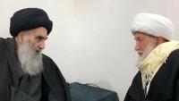 Şeyh İsa Kasım Necef'te Ayetullah Sistani ile görüştü
