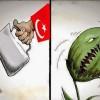 Karikatür: Türkiye Hükumeti Terörü Destekleyerek Halkını Uçuruma Sürüklüyor
