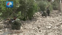 Foto: Tedmur kasabası civarındaki tarım arazilerini teröristlerden temizledikten sonra Tedmur'a giren Suriye askerleri…
