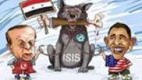 Karikatür: Siyonist Efendilerinin Köpekliğini Yapan IŞİD, Suriye'ye Saldırıyor
