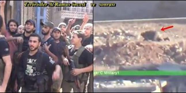 Foto: Halep Al Ramus bölgesinde Teröristlerin kuşatmayı kırma girişimi öncesi ve sonrası
