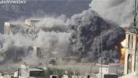 Siyonist Suud Rejimi Yemen'in Mesteba çarşısını ABD bombaları ile vurdu