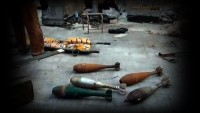 Halep'te Amerika ve İsrail Yapımı Yüklü Miktarda Silah Bulundu