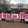 """Beyaz Saray Önünde Protesto """"Suriye'den Elini Çek"""""""
