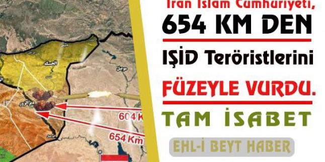 Tasarım: İran İslam Cumhuriyeti, 654 KM den IŞİD terör örgütünü FÜZELERLE vurdu