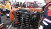 Forklift devrildi işçi altında can verdi