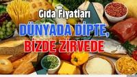 Gıda Fiyatları Dünya Genelinde Düşerken Türkiye'de Tavan Yaptı…