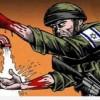 Karikatür: ABD Siyonist Güçlere Bulaşan Mazlum Kanını Temizlemeye Çalışıyor…