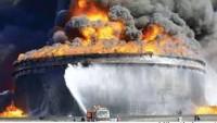 Libya'da 1,9 milyon varil petrol yandı…