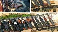 Suriye'de teröristlere ait çok miktarda silah ele geçirildi
