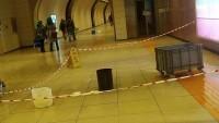 Su Basan Kartal-Kadıköy Metrosuda Görevliler Çareyi Kova Koymakta Buldu…
