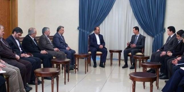 Beşar Esad Suriye İran Ekonomik İlişkilerini Kalkındırma Komitesi Heyetini Kabul Etti…