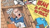 Karikatür: Barış Düşmanı Siyonistler İran'a İftira Atıyor…