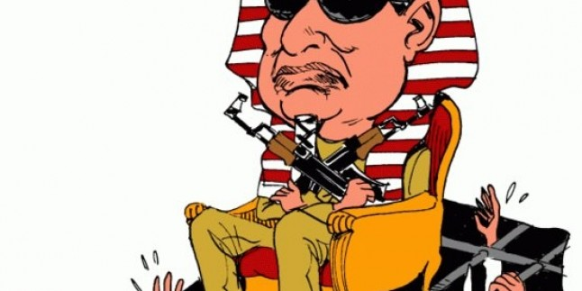 Karikatür- Mısır Başkanı Abdülfettah el-Sisi muhaliflere karşı baskı uygulamaya devam ediyor