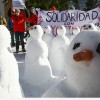 Davos'ta, Dünya Ekonomik Forumu Protesto Edildi…