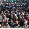 Gazze'de Hz. Peygamber (s.a.s.)'e saygısızlık edenlere tepki gösterildi