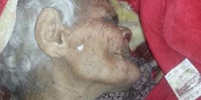 Siyonist Ordu Önce Gazzeli Yaşlı Kadına Su Verip Reklam Yaptı Ardından Katletti…