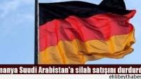 Almanya'dan Suudi Arabistan'a veto