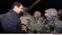 Esad, Suriye ordusuyla birlikte Cuber'de