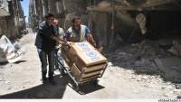Suriye'nin Yermük Semtinde 60 Bin İnsani Yardım Paketi Dağıtıldı…
