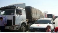 İdlib Valiliği Muarrat el Numan kırsalına insani yardım konvoyu gönderdi…
