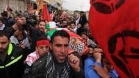 Korsan İsrail askerlerinin kurşunuyla şehid olan Filistinli genç son yolculuğuna binlerce kişinin katıldığı törenle uğurlandı…