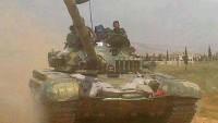 Suriye Ordusu, Lazkiye Kuzey Kırsalında Teröristlere Ait Cephane Dolu Birkaç Araçla Birlikte Füze Rampalarını İmha Etti.