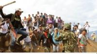 Kolombiya Ordusu Nasa Yerlilerine Var Gücüyle Saldırıyor.