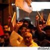 Bahreyn halkı Amerika ve İngiltere bayraklarını yaktı.
