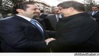 Türkiye Başbakanı, Saad Hariri İle Görüştü.