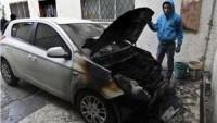 Yahudi Yerleşimciler Filistinlilere Ait İki Otomobili Yaktı…