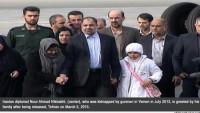 2013 yılında Yemen'de kaçırılan İranlı diplomat ülkesine döndü