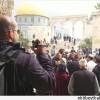 Filistinliler, Tekbir Sesleriyle Mescidi Aksaya Baskın Düzenleyen Siyonistlere Tepki Gösterdi.