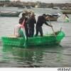 Gazzeli genç avukat plastik şişelerle tekne yaptı