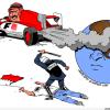 Karikatür: Bahreyn Rejimi, İşlediği İnsanlık Suçunu Formula Yarışlarıyla Gizlemeye Çalışıyor