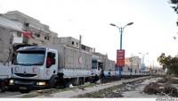 Yermük'te Teröristlerden Kaçan Ailelere Yardım Dağıtımı Sürüyor