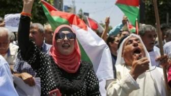 Ramallah'ta Filistinliler 'Yüzyılın Anlaşması'nı protesto ettiler