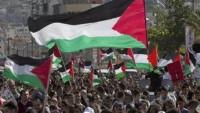 Filistin genelinde Bahreyn oturumuna karşı kınama gösterisi