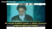 """Video: İmam Ruhullah Humeyni: """"Siz onlara karşı durursanız onlar hiçbir şey yapamazlar."""""""