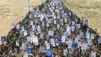 Yemenliler Yüzyılın Anlaşması'nı protesto ettiler