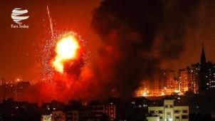 Siyonist rejim savaş uçakları Gazze'yi bombaladılar