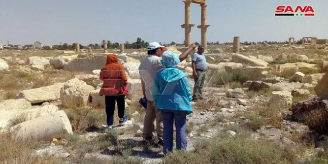 Çinli Turistler Palmyra'da: Kentteki Uygar Miras Dünyanın Hiçbir Yerinde Yoktur