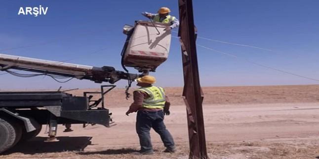 Suriye'nin Şeddadi Kenti ve Kırsalı Yeniden Elektriğe Kavuştu