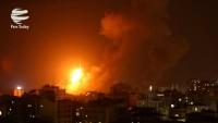 Siyonist rejim, Gazze'yi yoğun şekilde bombaladı