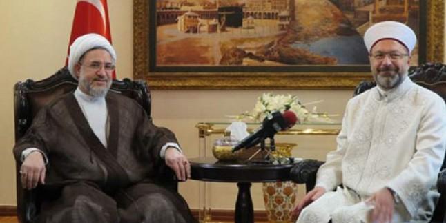 Ayetullah Eraki ile Türkiye Diyanet İşleri Başkanı görüştü