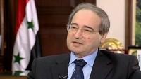 Faysal Mikdad: Kürt bölgelerinde Suriye ordusu olsaydı Türkiye saldıramazdı