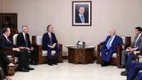 Velid Muallim ile BM Suriye Temsilcisi görüştü