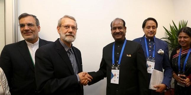 """Laricani: """" İran ve Hindistan ilişkileri iki ülkenin kültürü ve tarihinden kaynaklanmıştır"""""""